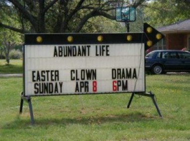 Scary Clowns! Funny church signs, funny names, worst family photos, awkward family stupid people sexual innuendos worst church signs