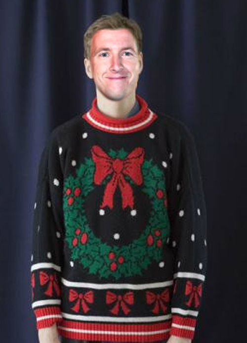 Funny Pictures of A.J. Allmendinger Ugly Christmas Sweaters Funny NASCAR Tacky Christmas NASCAR Driver Pictures Photos Pics
