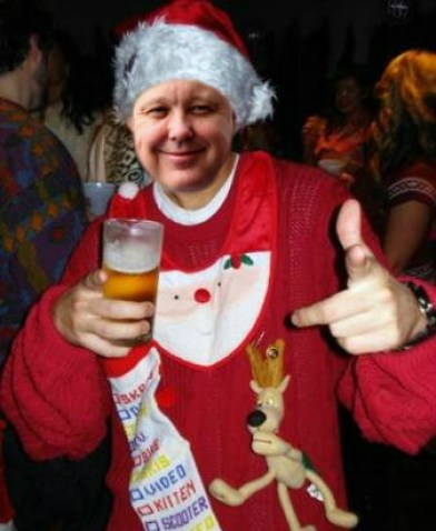 Brian France in his ugly christmas sweater Holiday sweater funny pictures funny nascar driver pictures photos