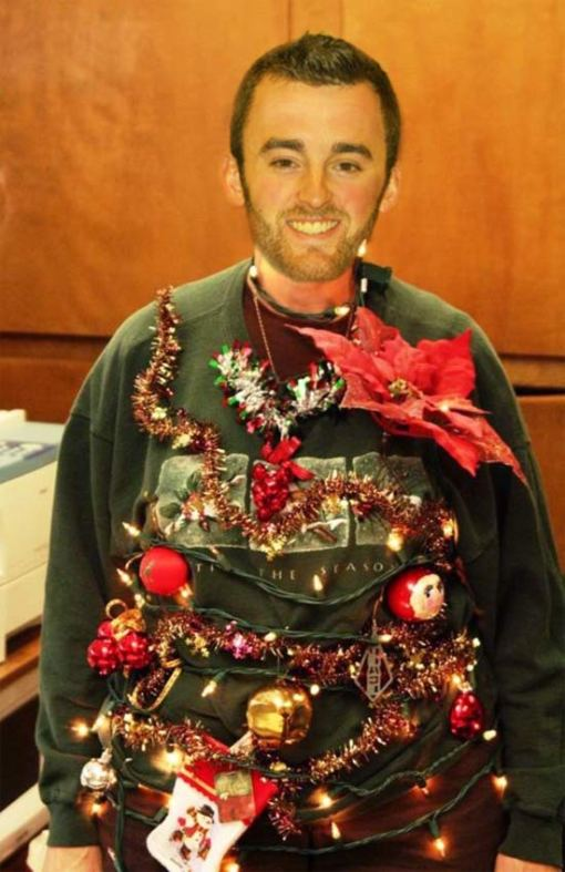 austin dillion in his ugly christmas sweater