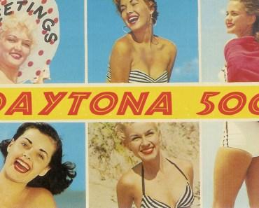 Daytona 500 Vintage post card, daytona postcard, NASCAR pics,