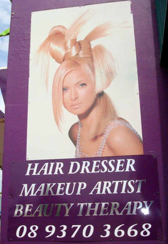 bad hair styles, funny hair massage, therapy, funny store signs, fun advertisements, ads, worst ever, bad, street signs, real estate, misspelled, wrong, fail, stupid, wtf, bad product names, funny names, funny people, wrong place wrong time,