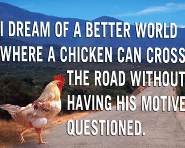 motivational poster chicken cross the road, funny pictures, funny quotes, funny sayings