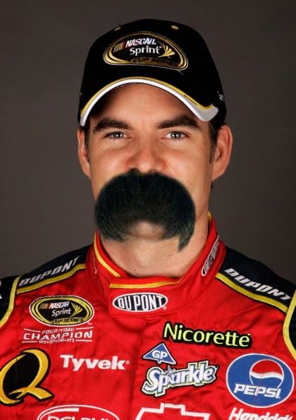 Jeff Gordon has a new mustache for the Chase, Funny pictures of Jeff Gordon, NASCAR
