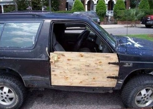 The Best Bad Redneck Vehicles, redneck cars funny vehicles there I fixed it awkward family photos ellen bad family photos wors bad tattoos worst cars redneck trucks redneck men redneck tractors redneck boats wooden car door