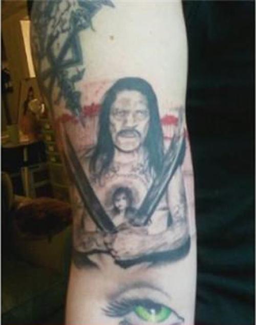 Danny Trejo Machete Man Worst tattoos bad tattoos funny stupid crazy horrible regrettable wtf awkward family photos