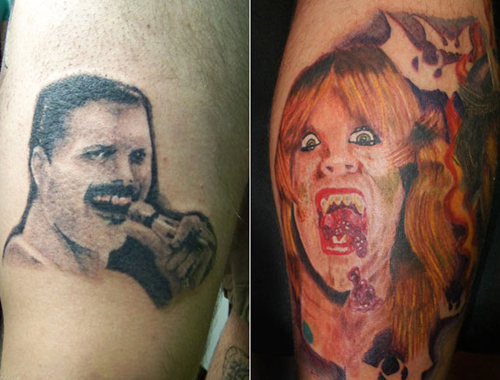 Bad worst tattoos 13 of the worst in horrible team for Crazy train tattoos
