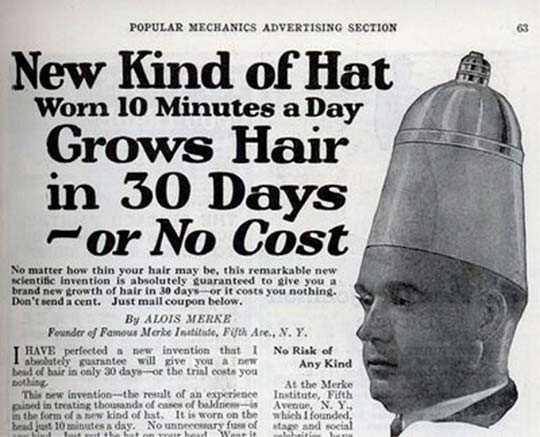 Hair Growing Hat – Strange Weird Vintage Products & Ads