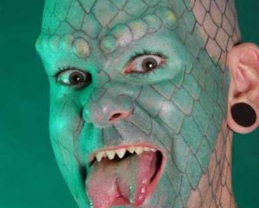 Lizard Man – The Worst Bad Tattoos, The Ugliest Regrets, too.