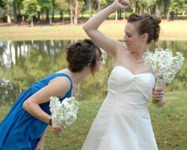 How Do I Smell? – 14 Awkward, Funny Wedding Photos