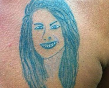 Bad Glowing Portrait of Woman – The Worst Tattoos, The Ugliest Regrets, too.