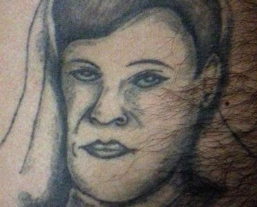 Bad Hairy Face Portrait ~ 14 of the Worst Bad Tattoos