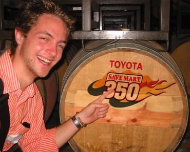 Toyota Save Mart 350 Logo wine barrel cask
