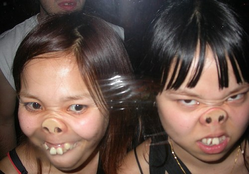 Funny pictures, pig face girls