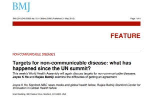 Bringing attention to non-communicable diseases
