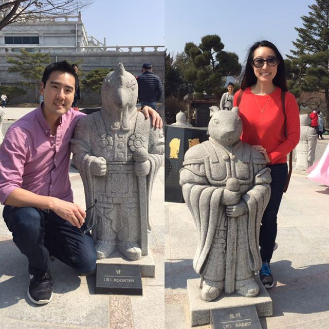 We found our Zodiac animal guards at Gyeongbok Palace todayhellip