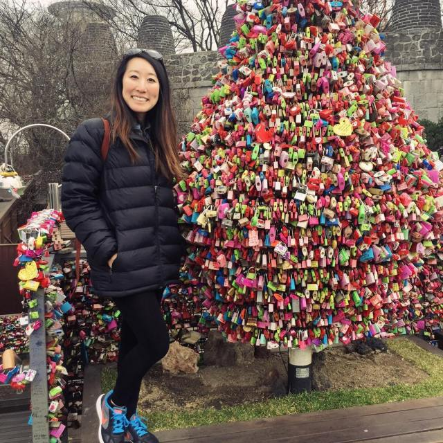 Visiting NamsanTower with all the locks representing promises of eternalhellip
