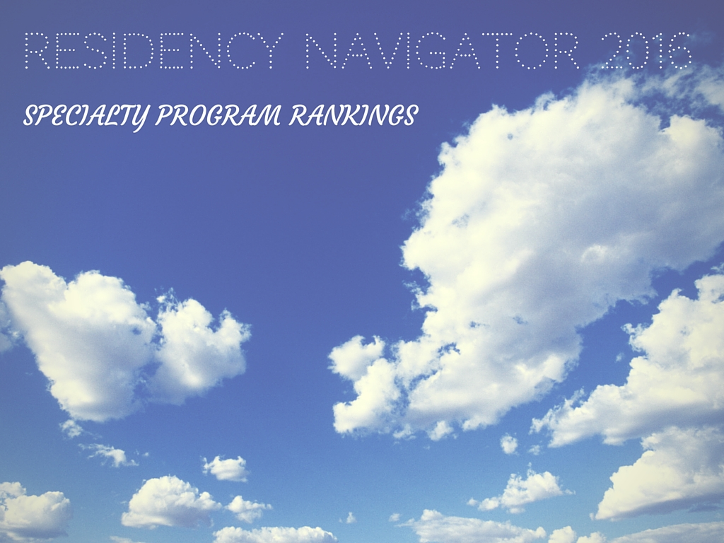 Residency Navigator: Program Rankings 2015-2016