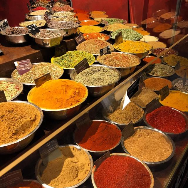 Adventures around NYC rows upon rows of exotic spices fromhellip