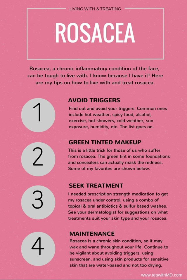How to treat and live with rosacea