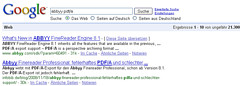 Current example of Google's (and web search en...