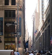 View of Wall Street, Manhattan.