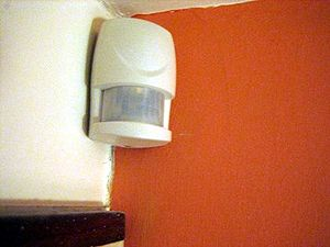 Picture of a burglar alarm detection point.