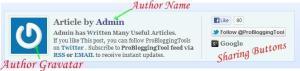 Author Bio Widget