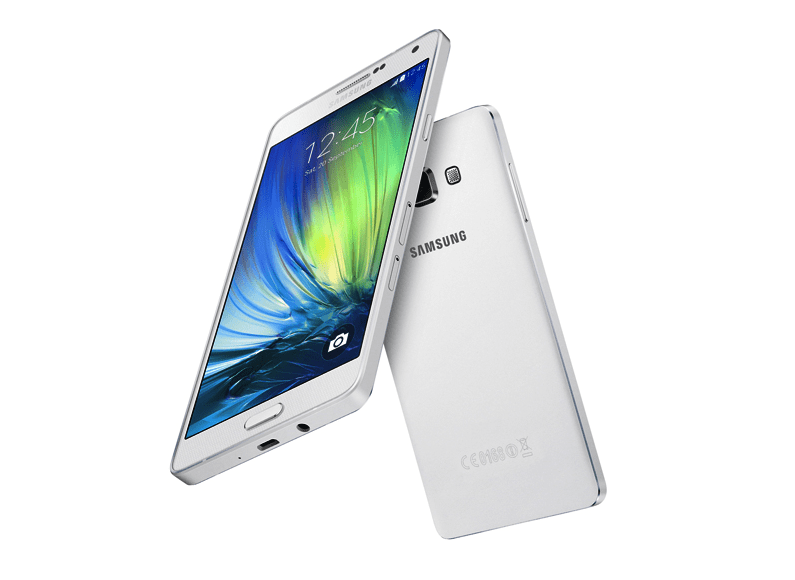 This isn't the Galaxy S6, but we're expecting it to look similar to this, the Galaxy A7.