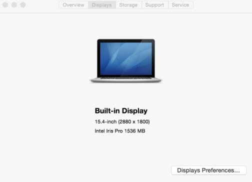 MacBook Display resolution how to check