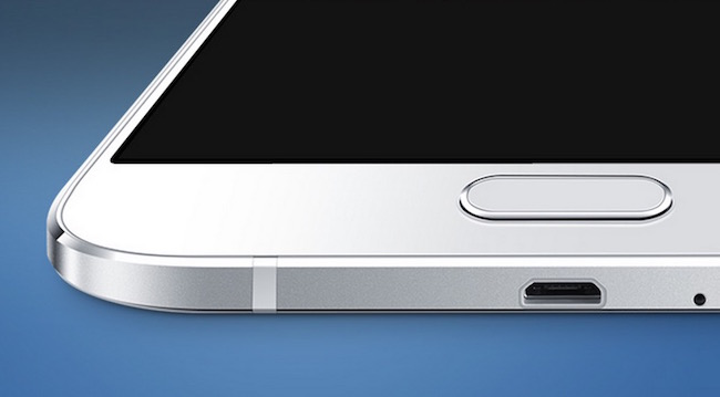 Samsung Galaxy A8 front home button