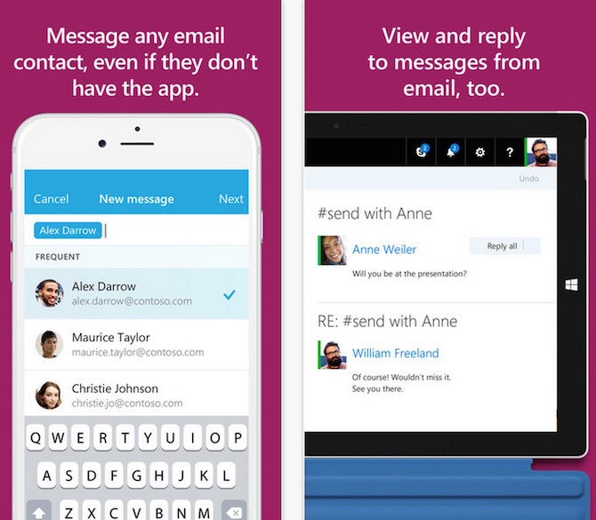 send an email app from Microsoft Garage project