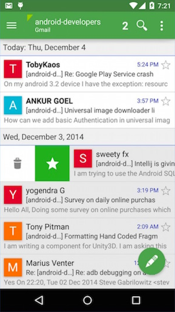 Best free email apps for Android to use multiplae email accounts Aqua Mail