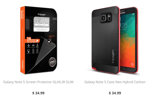Cases for Galaxy Note 5 on Spigen