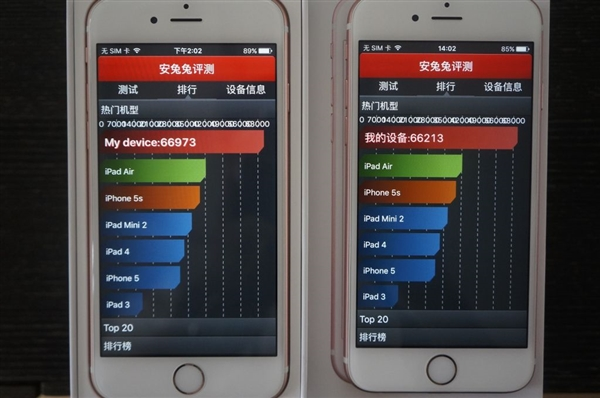 Samsung A9 vs TSMC A9 benchmark performance test 3