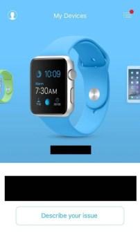 Apple support app devise select option