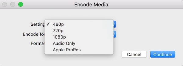 Convert low resolution video on mac
