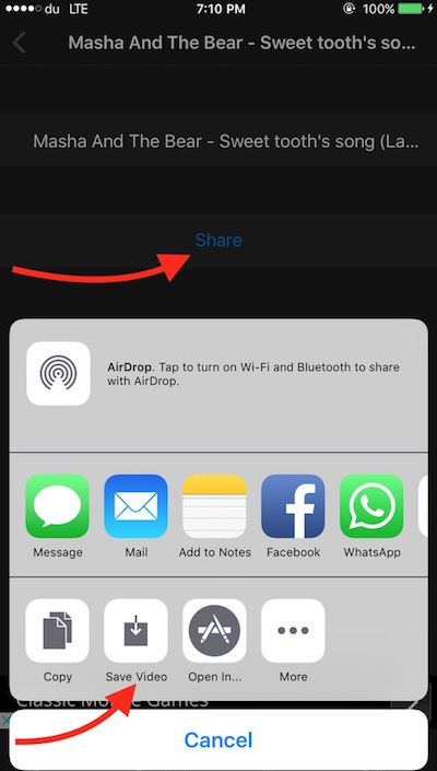 Share and save video