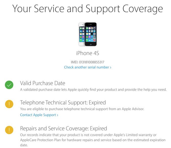 Apple Product IMEI or Serial number checker