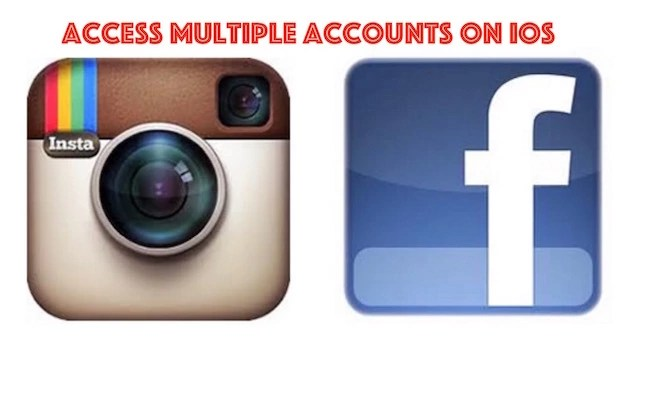 How to use multiple FB and Instagram account on iOS
