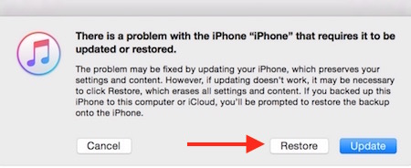 Downloading iOS from iTunes