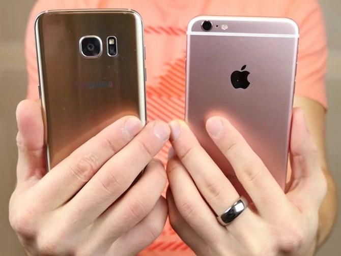 iPhone 6s Plus vs Gaaxy S7 Edge Drop Test
