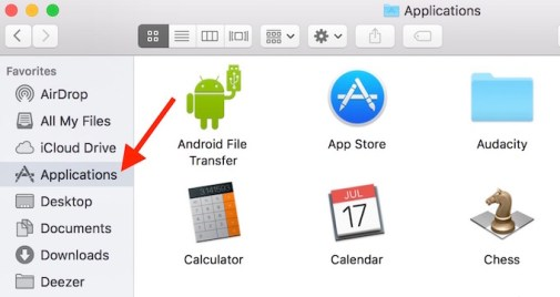 Application Folder on Mac