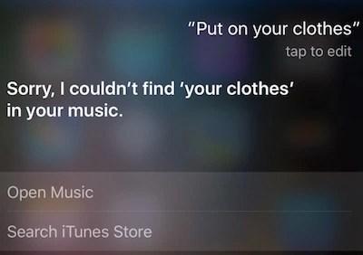 Clothes on Siri