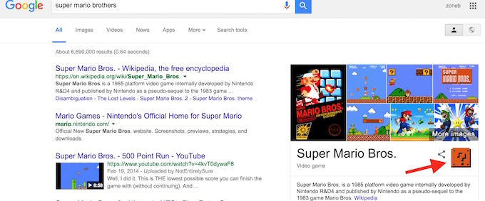 Google Super Mario