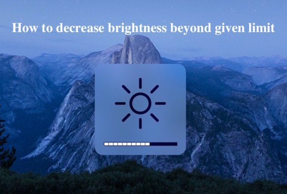Mac brightness Option