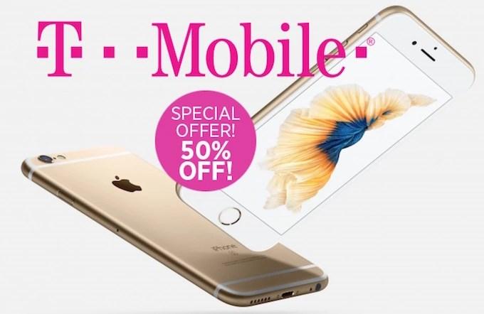 T-Mobile Half off