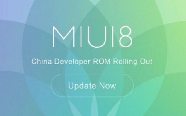 MIUI 8 CHina Developer ROM