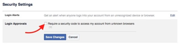 Enable Login Approval Step 1
