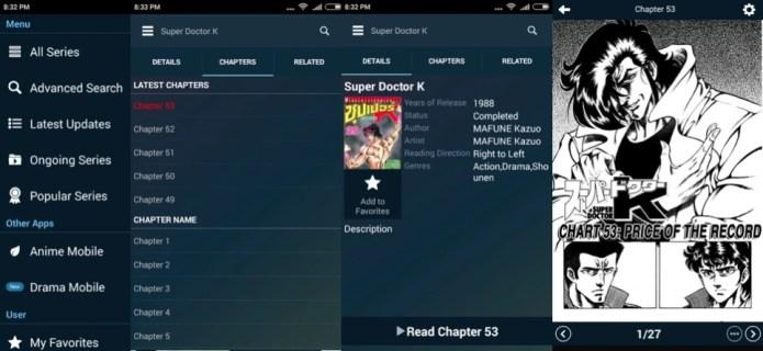 Manga Mobile App